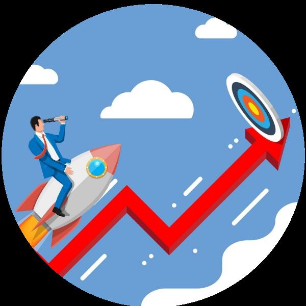 Achieving goals. Digital Marketing goals.