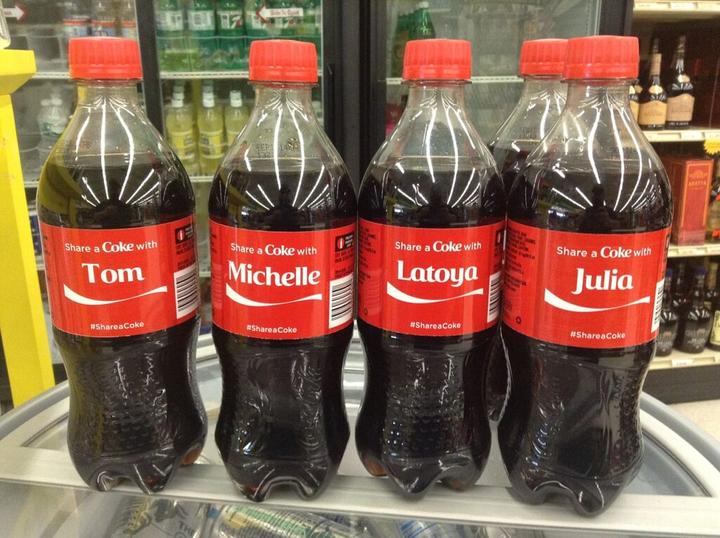 The Coca Cola Name Campaign was highly successful at marketing the soft drink.