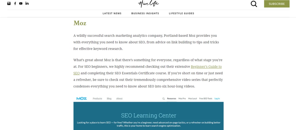 Moz offers strategies for making organic growth