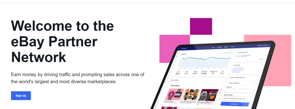 Affiliate marketing with ebay  partner network