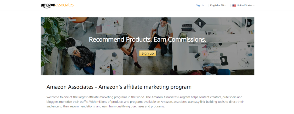Amazon Affiliate marketing program is an example of Affiliate marketing