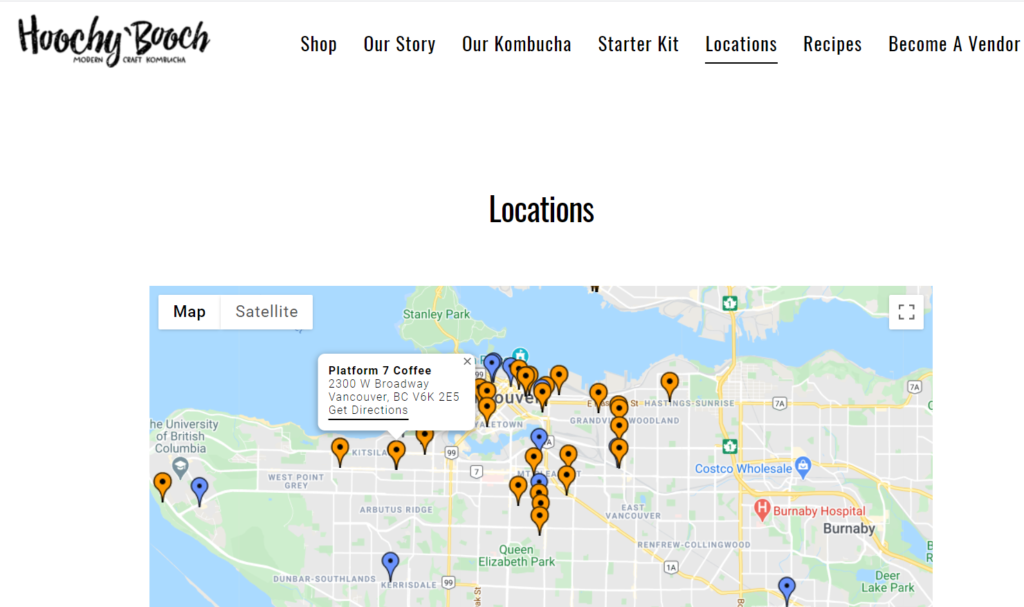 Suppliers sell using multiple locations. Earn backlinks by being included on the map or list.