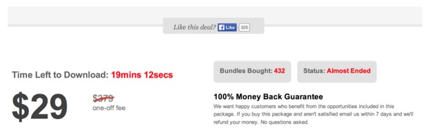 An irresistible offer example. How the seller created urgency to close the sale. marketing using urgency