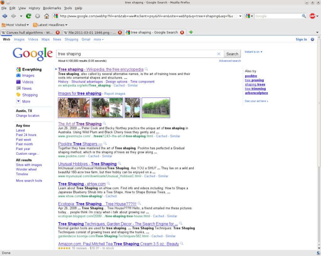 Google result page one