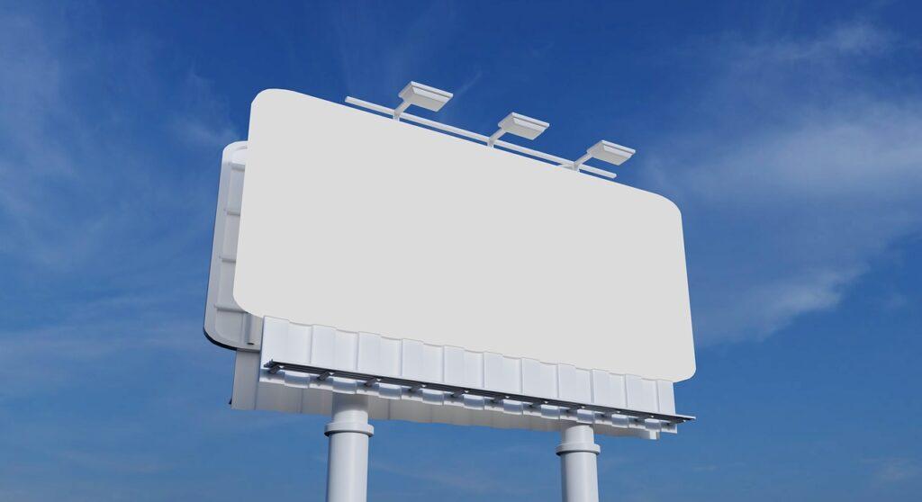 Offline advertising. The old way of advertising. Billboards were popular before Digital Marketing. This is before enhanced offline advertising.