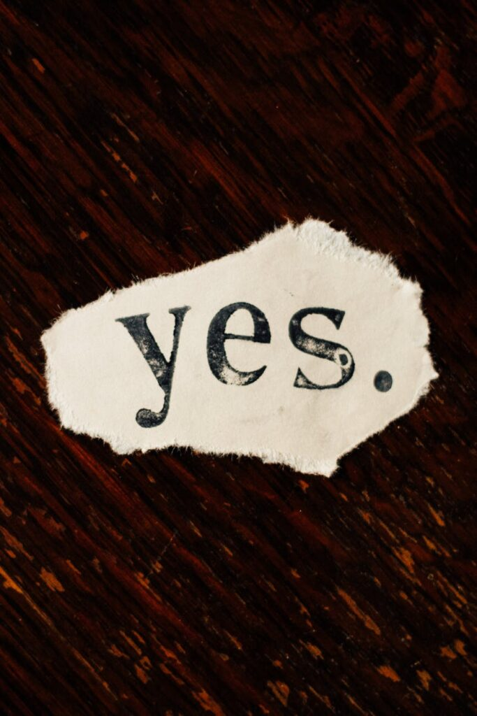Getting a yes on social media is good in terms of engagement